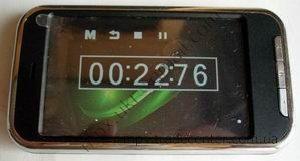 Секундомер в сенсорном MP5 плеере.