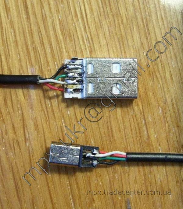 Распайка USB кабеля