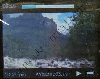 Раздел меню Videos в копии ipod нано поколения 5.