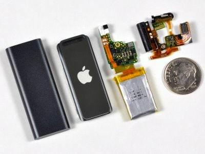 Компоненты iPod shuffle.