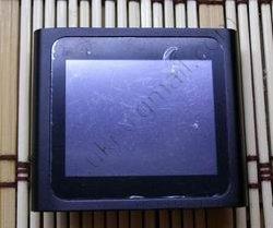 Китайский ipod nano 6g черного цвета (сенсорный), вид спереди.