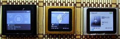 Раздел Record в китайских плеерах ipod nano 6g.