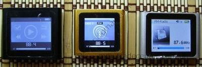 Раздел Fm Radio в китайских плеерах ipod nano 6g.