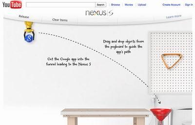 Игра-реклама Google Nexus S – закинь приложения в смартфон