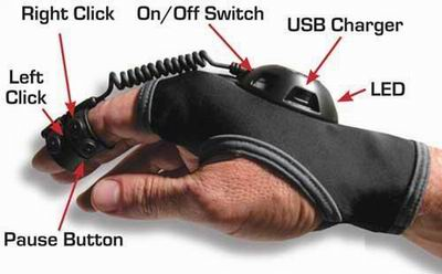 Беспроводная мышь-перчатка