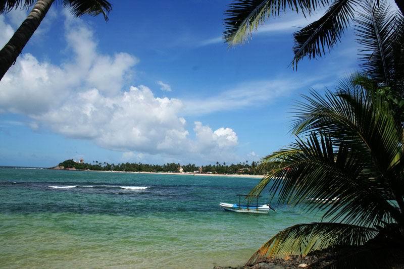 Лучшие курорты Шри-Ланки. Унаватуна. Вид с отеля BANANA GARDEN 4*