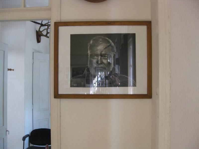 Портрет Эрнеста Хемингуэя, вилла Финка Вихия, Куба.
