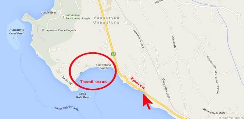 Карта Унаватуна.