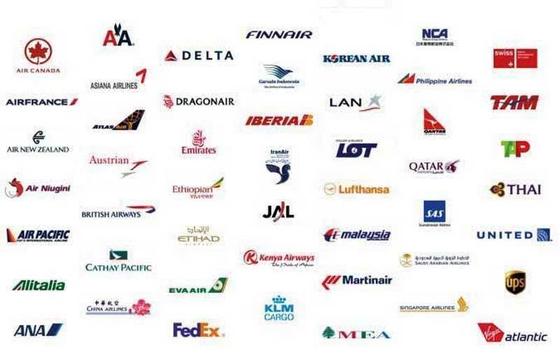 Мы работаем с лучшими авиакомпаниями по всему миру.
